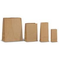 Крафт пакеты с прямоугольным дном.