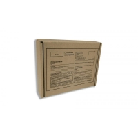 Короба почтовые бурая с бланком, тип Д №2 (220х165х100)