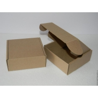Бурая почтовая коробка, тип Е 1 класс без печати (165х120х100)