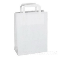 Бумажный крафт пакет с плоскими ручками, 350*150*450 мм