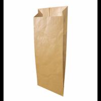 Бумажный крафт пакет с плоским дном, 140*60*250 мм