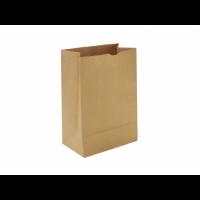 Бумажный крафт пакет без ручек, с прямоугольным дном, 80*50*170 мм