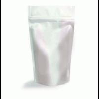 Пакет дой-пак зип-лок металлизированный, серебряный матовый, 160*45*250 мм