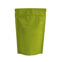 Пакет дой-пак зип-лок металлизированный, лаймовый матовый, 135*40*200 мм