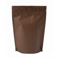 Пакет дой-пак зип-лок металлизированный, коричневый, 150*40*210 мм