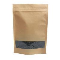 Крафт пакет дой-пак зип-лок с окном 40мм,110*30*185 мм