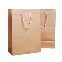 Бумажный крафт пакет с кручеными ручками, 260*150*350 мм