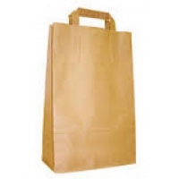 Бумажный крафт пакет с плоскими ручками, 240*140*280 мм