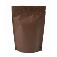 Пакет дой-пак зип-лок, металлизированный, коричневый, 105*30*150 мм
