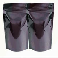Пакет дой-пак зип-лок металлизированный, черный матовый, 105*30*150 мм