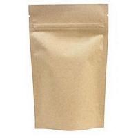 Крафт пакет дой-пак зип-лок металлизированный, 140*40*240 мм